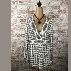 TOMMY BAHAMA MOONLIT MEDALLION TUNIC 100% SILK